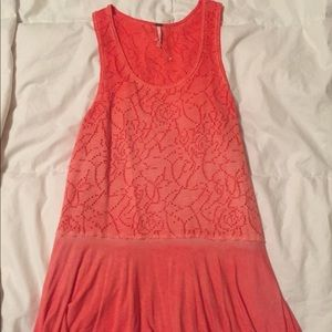 Peach color Free People tank